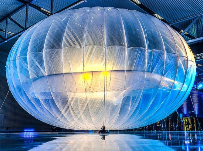 Google Loon high-altitude balloon